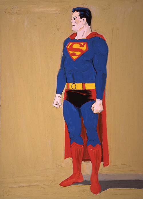 "1962's ""Superman"" hangs near the entrance of the de Young Museum in San Francisco. (Image courtesy of Mel Ramos)"