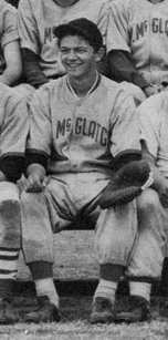 Mel on the McClatchy High School baseball team (he played catcher) in 1951. (Photo courtesy of Mel Ramos)