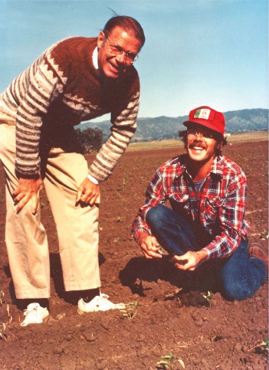 Robert McNamara visits Craig on his farm outside of Winters in 1978.