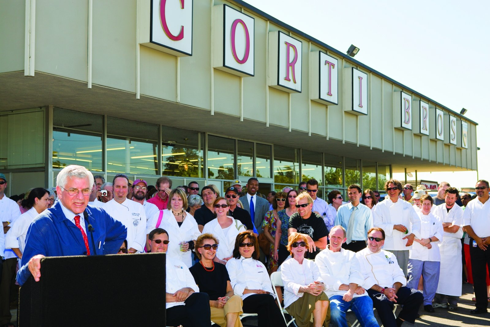 Many of the city's top chefs came out to support Corti in 2008 after the lease on his store was threatened. (Photo by Marc Thomas Kallweit)