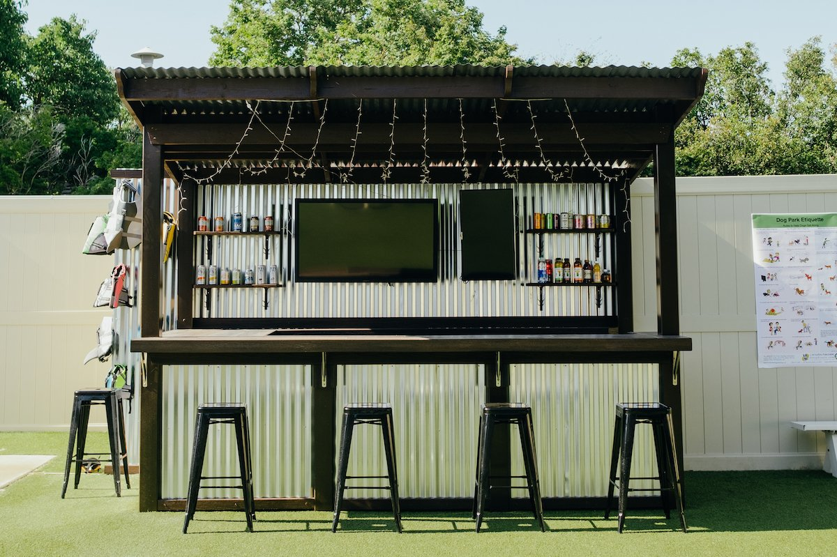 The island-style bar and snack stand, which will serve local craft beers