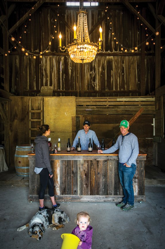 The bucolic-chic tasting room at Belden Barns (Photo by Jeremy Sykes)