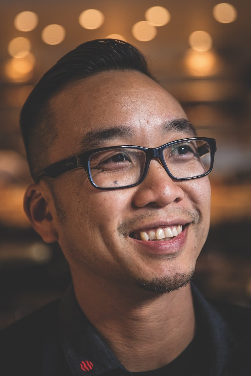 Chef-owner Billy Ngo at his celebrated East Sacramento restaurant, Kru, on Oct. 12 (Photo by Max Whittaker)