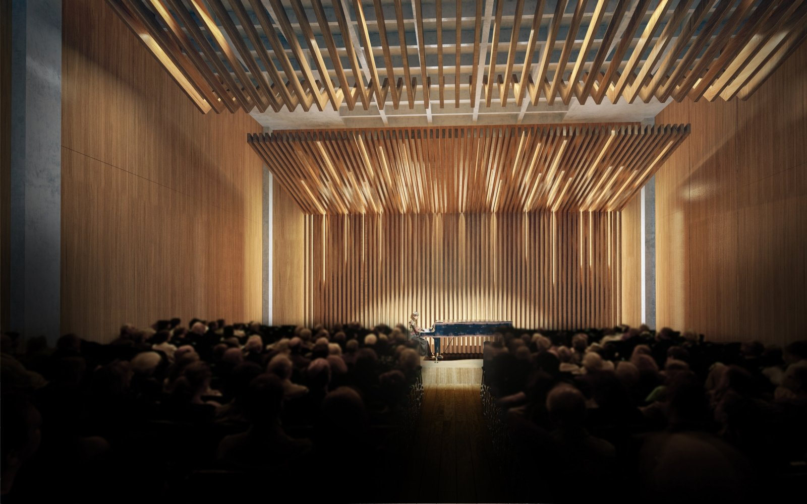 An in-house 180-seat theater will hold intimate concerts by the Sacramento Philharmonic & Opera, which plans to move its offices into the building.