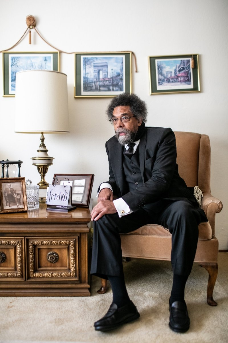 Cornel West in his childhood home in South Land Park Hills on July 2 (Photo by Max Whittaker)