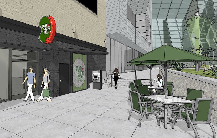 Flatstick Pub will be located in an underground space at DoCo. (Rendering courtesy of Flatstick Pub)