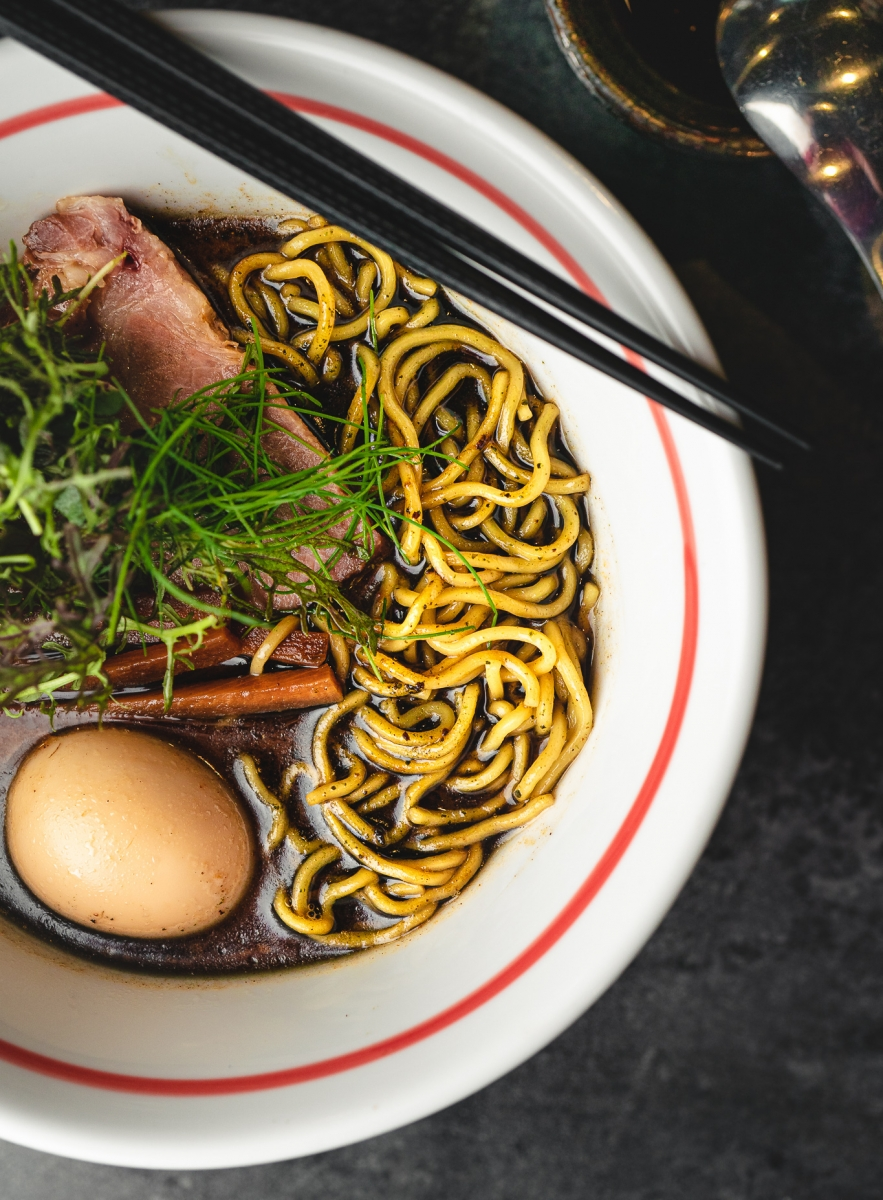 The tonkotsu-gyokai ramen, which features a pork-and-fish-based broth (Photo by Anna Wick)