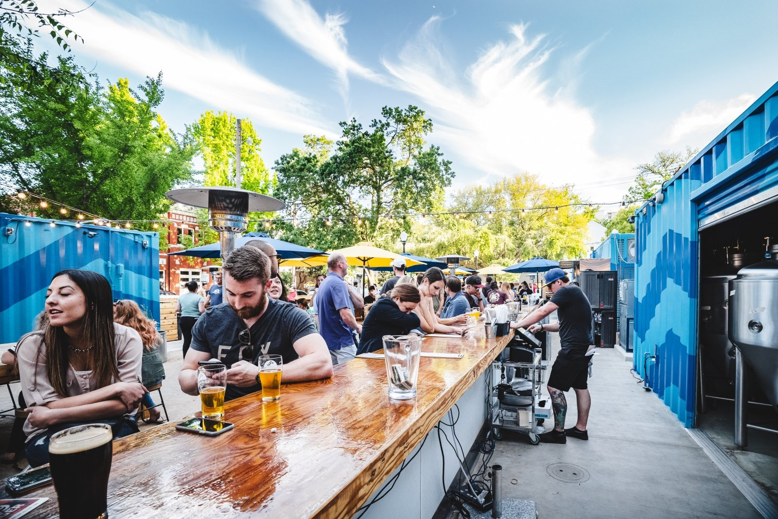 Golden Road Brewing Company's 8,000-square-foot beer garden in midtown (Photo courtesy of Golden Road Brewing Company)