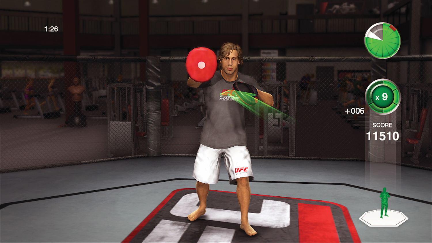 "Faber's video game likeness in ""UFC Personal Trainer,"" which will be released in June (Rendering courtesy of THQ)"