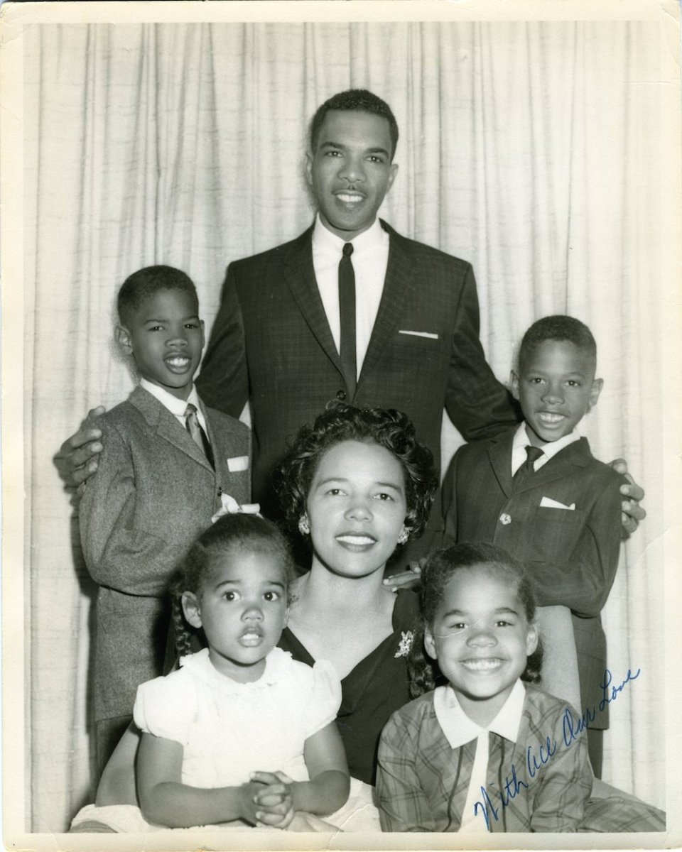 The West family in 1962, clockwise from top left: Clifton III, father Clifton Jr., Cornel, Cynthia, mother Irene and Cheryl (Photo courtesy of the West family
