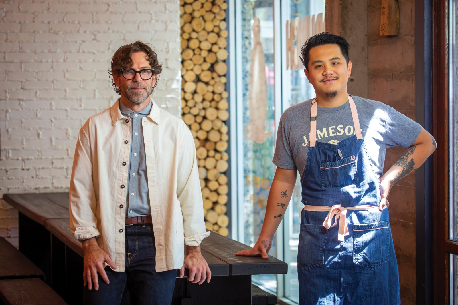 Love Child owner Michael Hargis and chef de cuisine Hamilton Li at sister restaurant LowBrau