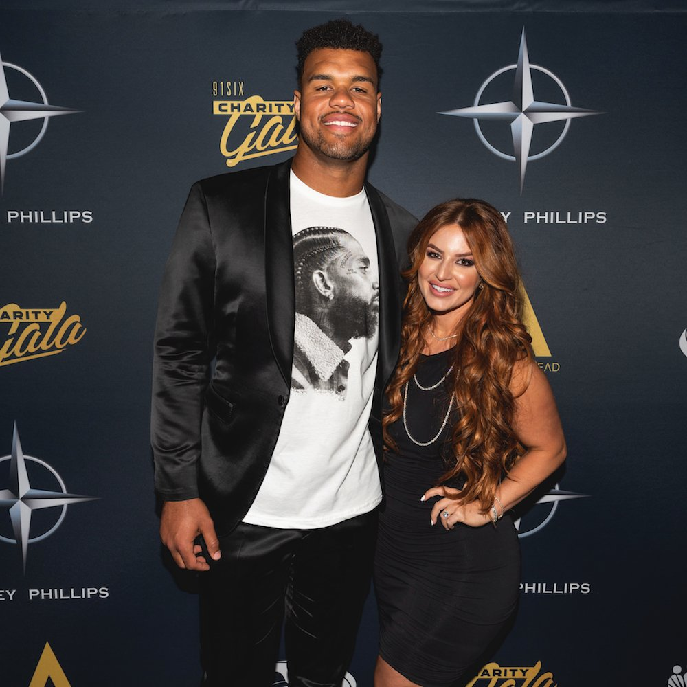 Armstead with wife Mindy Harwood at his 91Six Charity Gala at the Kimpton Sawyer Hotel in downtown Sacramento in June 2019 (Photo by Roderick Cooney courtesy of The Nickel Agency)