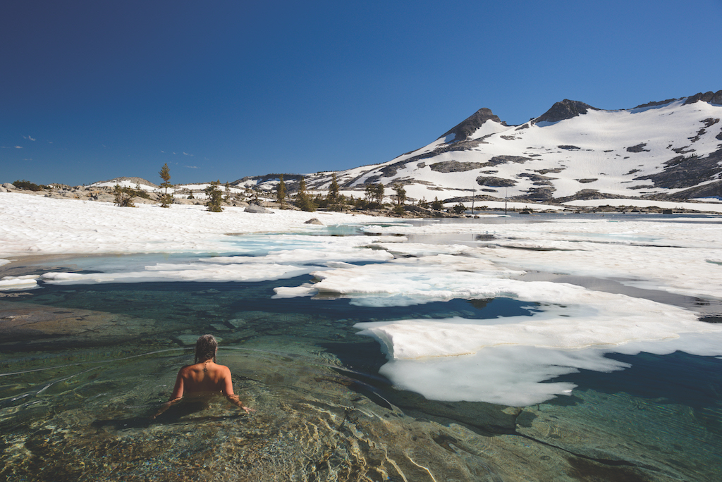 Take a snowy hike or an icy swim at Lake Aloha. (Photo by Scott Sady/tahoelight.com)