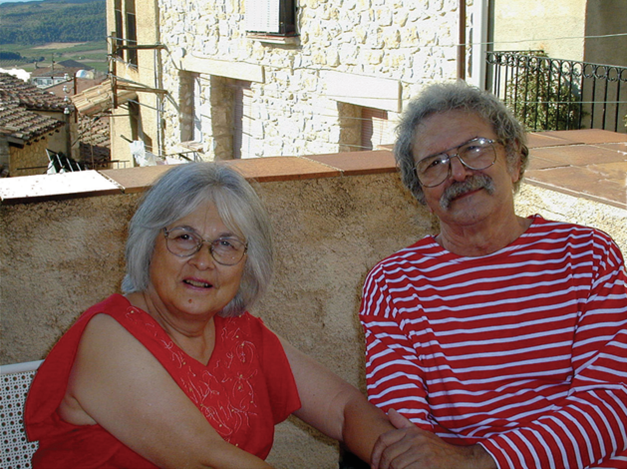 Leta and Mel last year at a home they own in Spain, where they spend several months every year. (Photo courtesy of Mel Ramos)