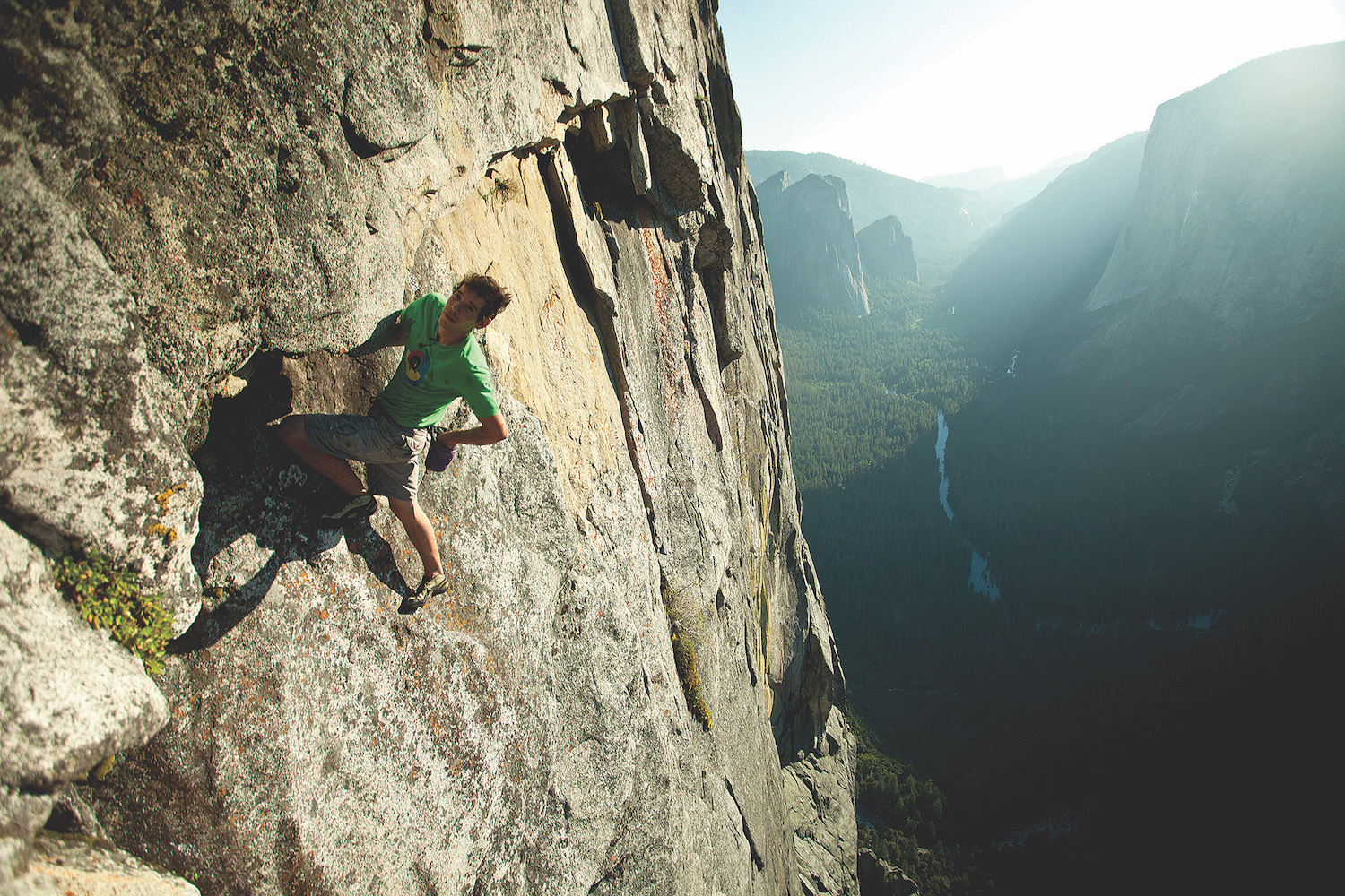 Honnold free soloing on Yosemite's Half Dome in June 2011. (Photo courtesy of Reel Rock)