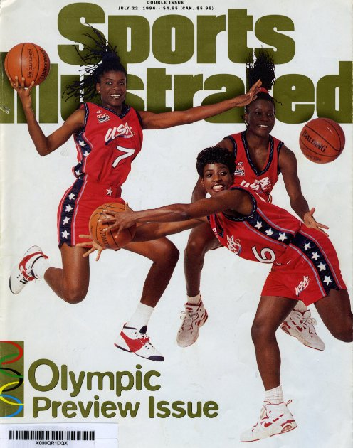 Bolton (foreground) on the cover of Sports Illustrated in '96