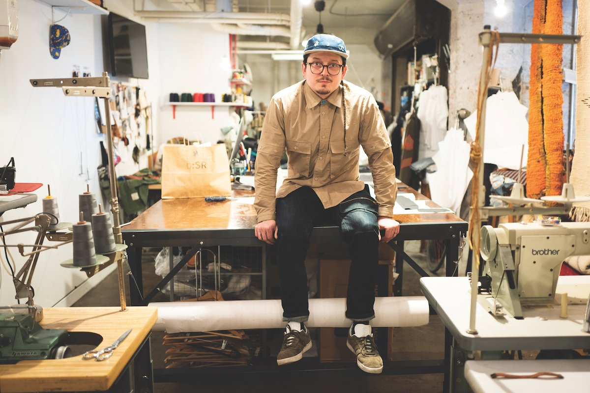 Clothing designer and WAL resident Samuel Rose Parkinson in his atelier (Photo by Max Whittaker)