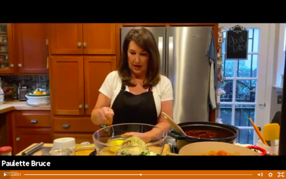 Paulette Bruce demonstrates a recipe for classic meatballs in tomato sauce.