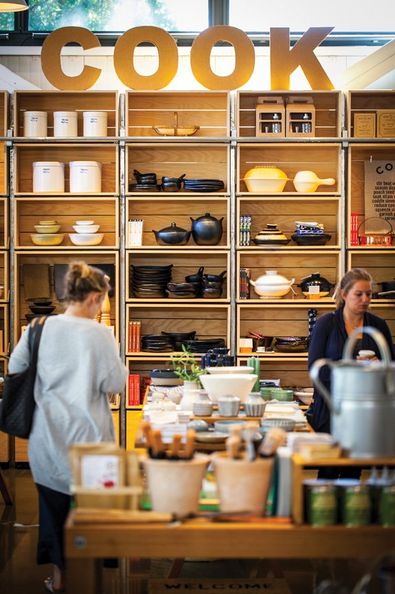 A selection of museum-worthy artisanal cookware at Shed in Healdsburg (Photo by Jeremy Sykes)