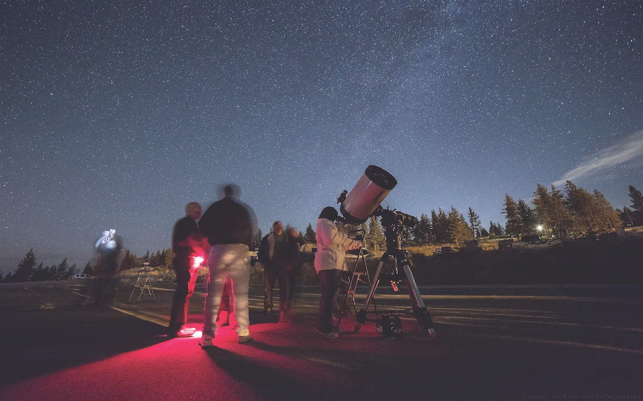 See galaxies far, far away during Tahoe Star Tours. (Photo courtesy of Tony Berendsen)