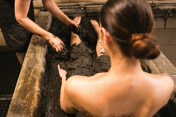 Take the plunge at Indian Springs Resort, whose mud baths are famous for transporting weary travelers to blissful states of repose. (Photo courtesy of Indian Springs)