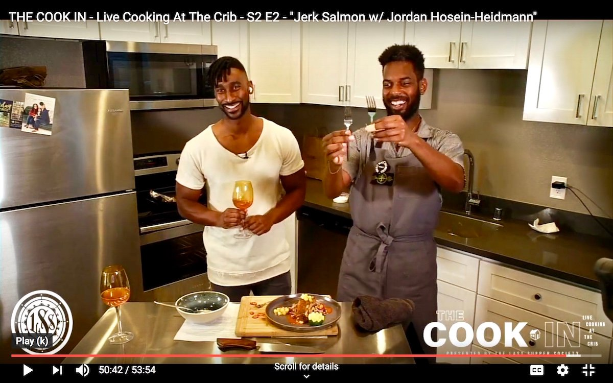 From left: Ryan Royster and chef Byron Hughes, co-hosts of The Cook In
