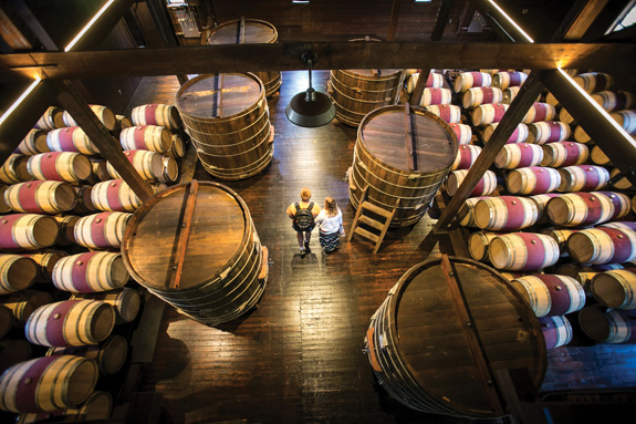 Trefethen Family Vineyards' 19th-century main building—painstakingly rebuilt after the 2014 Napa earthquake, beam by beam and stave by stave—is open for tours again. (Photo by Jeremy Sykes)