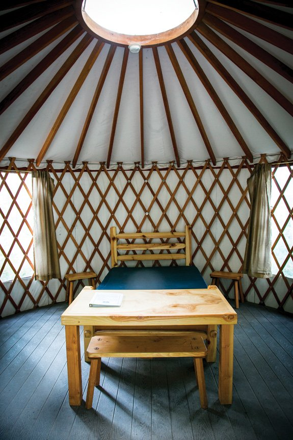 Your own private cathedral in the woods: a yurt at Bothe-Napa Valley State Park (Photo by Jeremy Sykes)