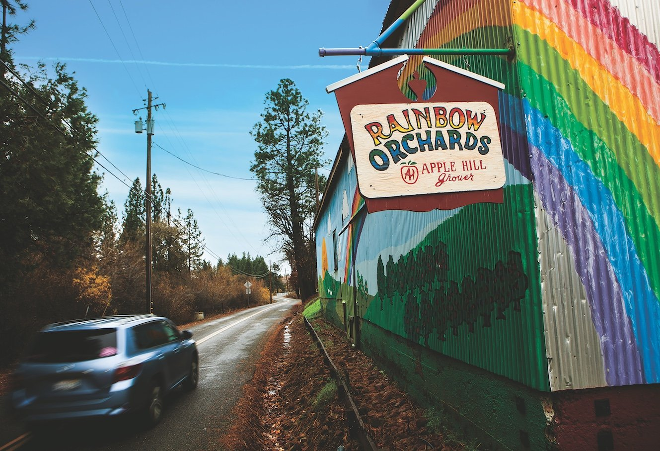 This cider doughnut house rules: Start your day right with a visit to Rainbow Orchards. (Photo by Max Whittaker)