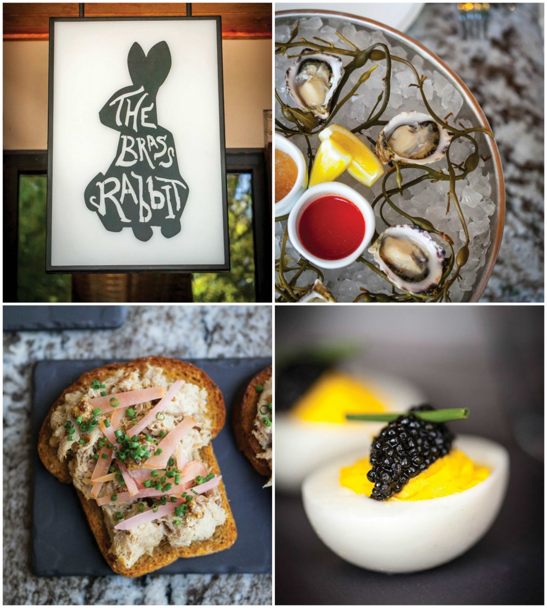 The Brass Rabbit offers an inspired range of small plates, from raw oysters served with mignonette granita to Eggs Mimosa with a dollop of caviar, and rye toast topped with rabbit rillettes. (Photos by Jeremy Sykes)