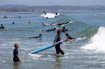 Surf's up at Capitola