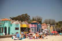 Capitola's colorful Venetian-style beachfront complex