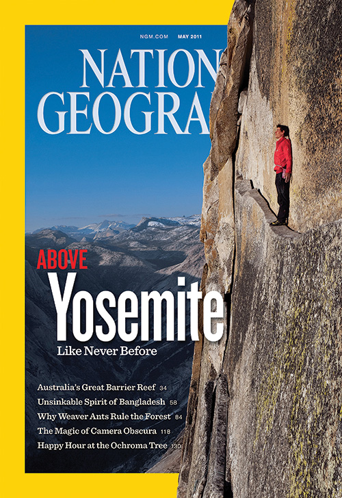 "Alex Honnold on the cover of ""National Geographic"" in 2011"