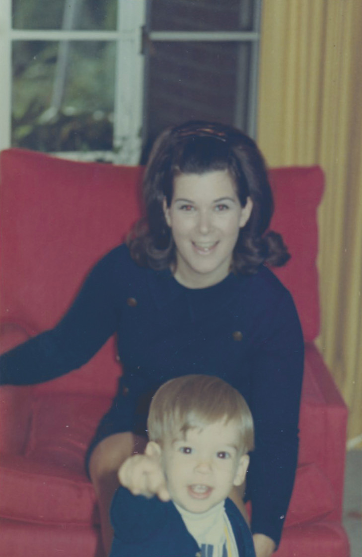Rob and his mom when he was 18 months old