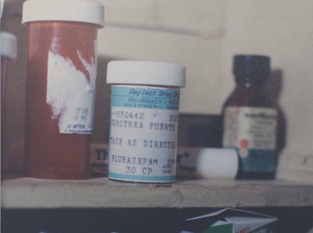 A vial of flurazepam found in Puente's home (Courtesy of The Sacramento Archives)