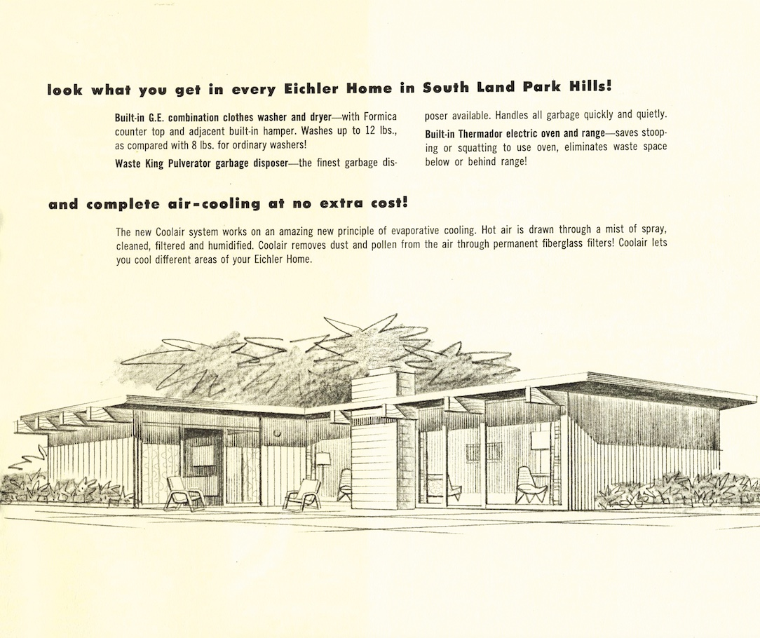 Pages from a brochure touting new Eichler homes in Sacramento (Courtesy of Sacramento Modern)