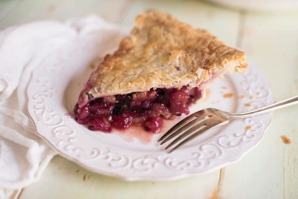 Real Pie Company's rhubarb and wild blueberry pie (Photo courtesy of Real Pie Company)