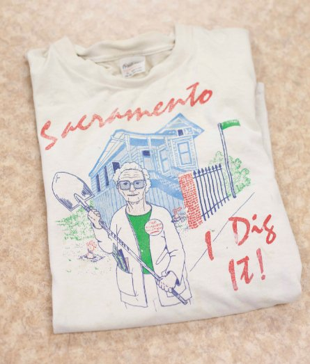 A T-shirt designed to cash in on Puente mania (Courtesy of The Sacramento Archives)