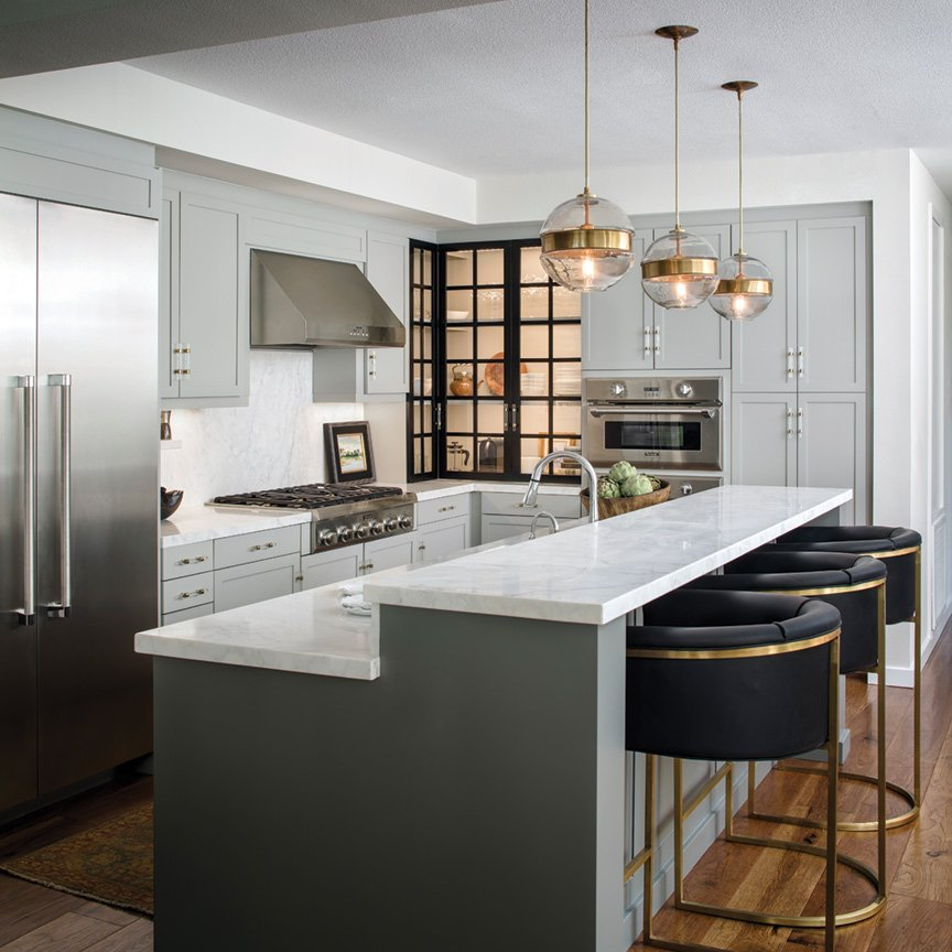 Chic Gray Kitchen