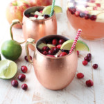 cranberry apple moscow mule punch