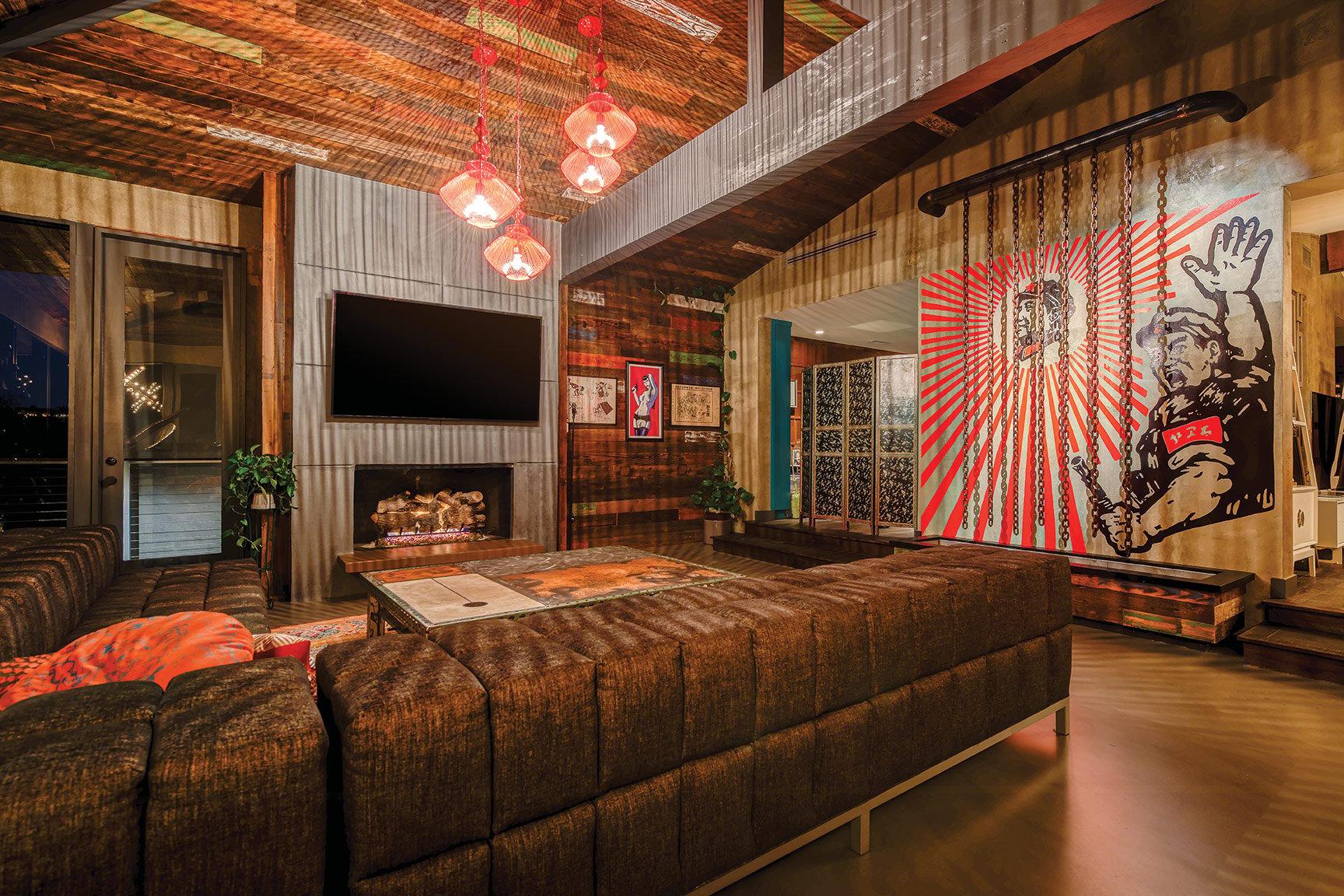 propaganda art chinese china chairman mao revolutionary design mission hills home decor