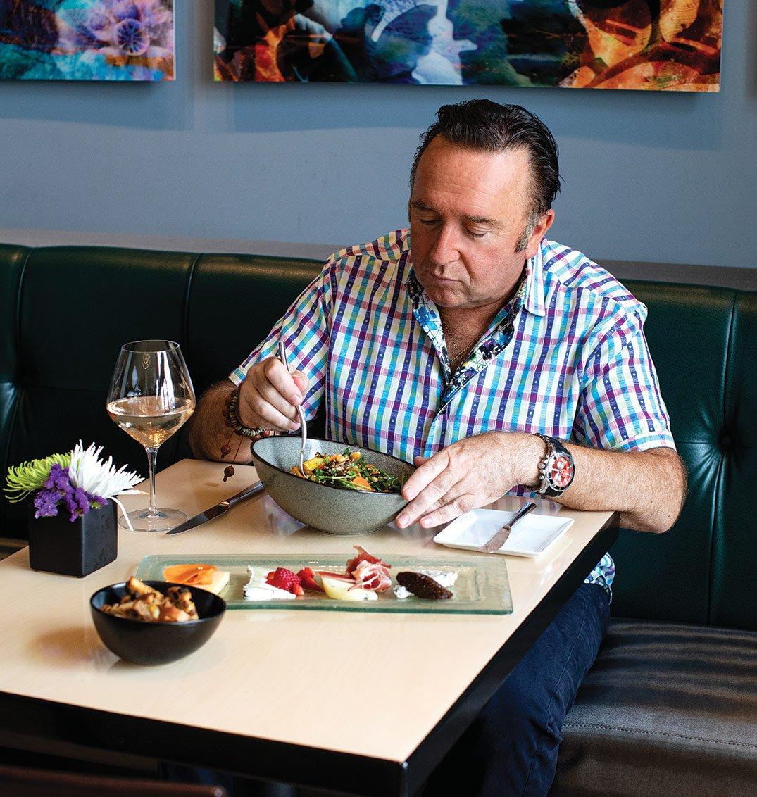 Chef Bernard Guillas dines at Nine-Ten