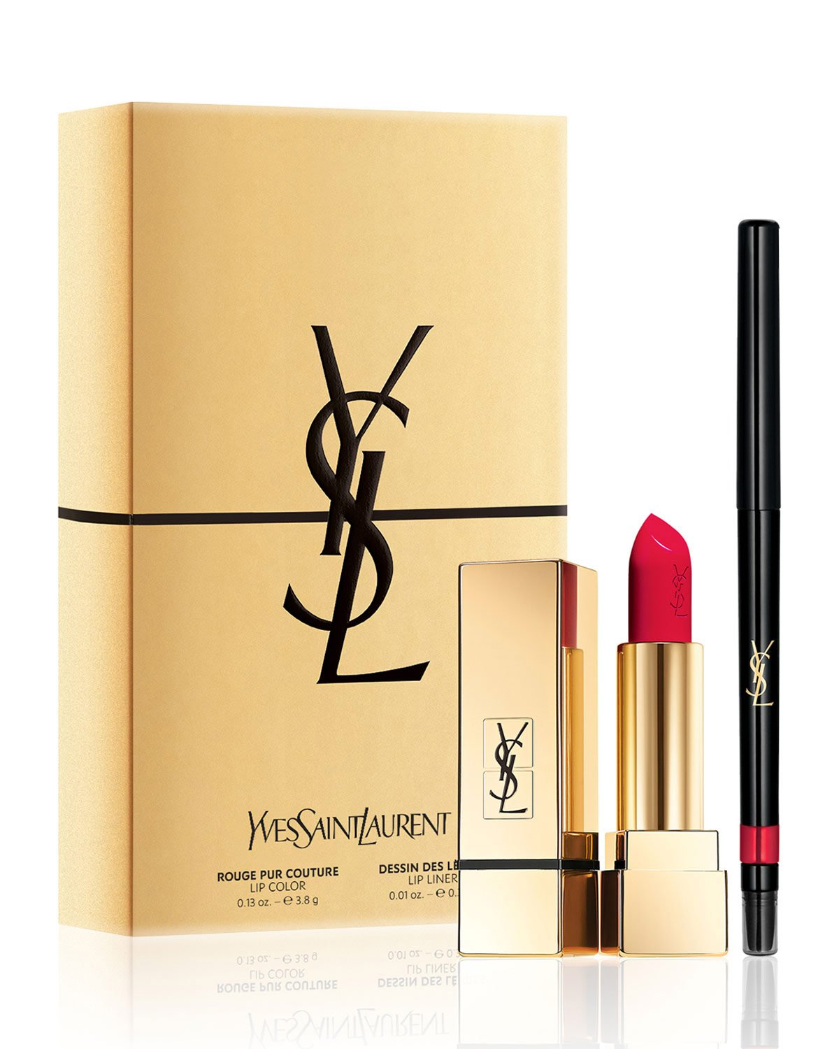 beauty gift guide holiday yves saint laurent ysl red lip and liner set love olia majd