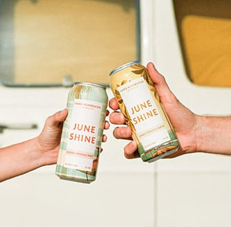JuneShine hard kombucha siena and leslie randall