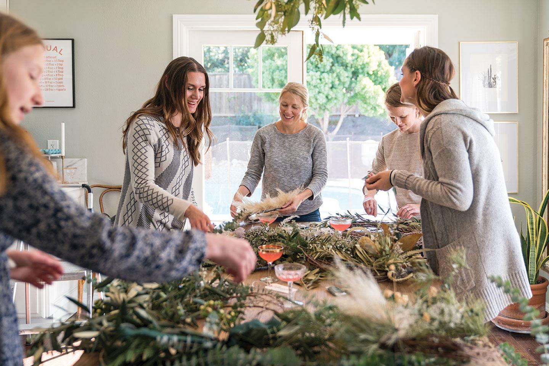 DIY wreath making party Native Poppy Natalie Gill