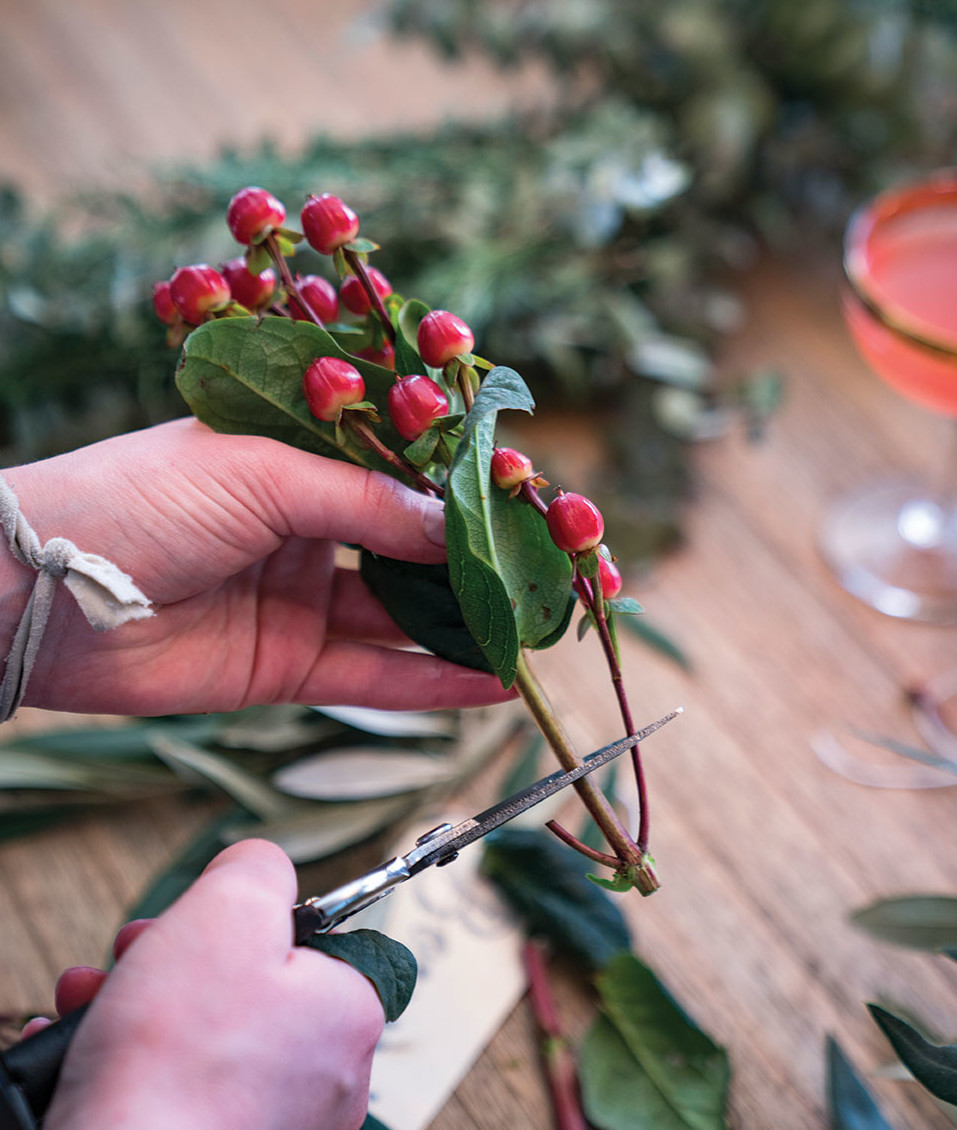 DIY wreath making party homemade
