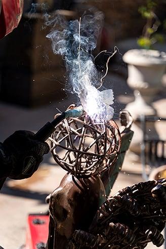 Cesar Mendez #secretlivesweek sculpture found art doormaker secret lives san diego