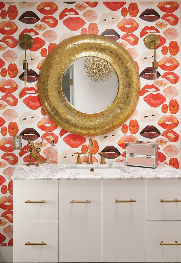 midcentury-modern dream home midcentury modern house architecture bathroom wallpaper