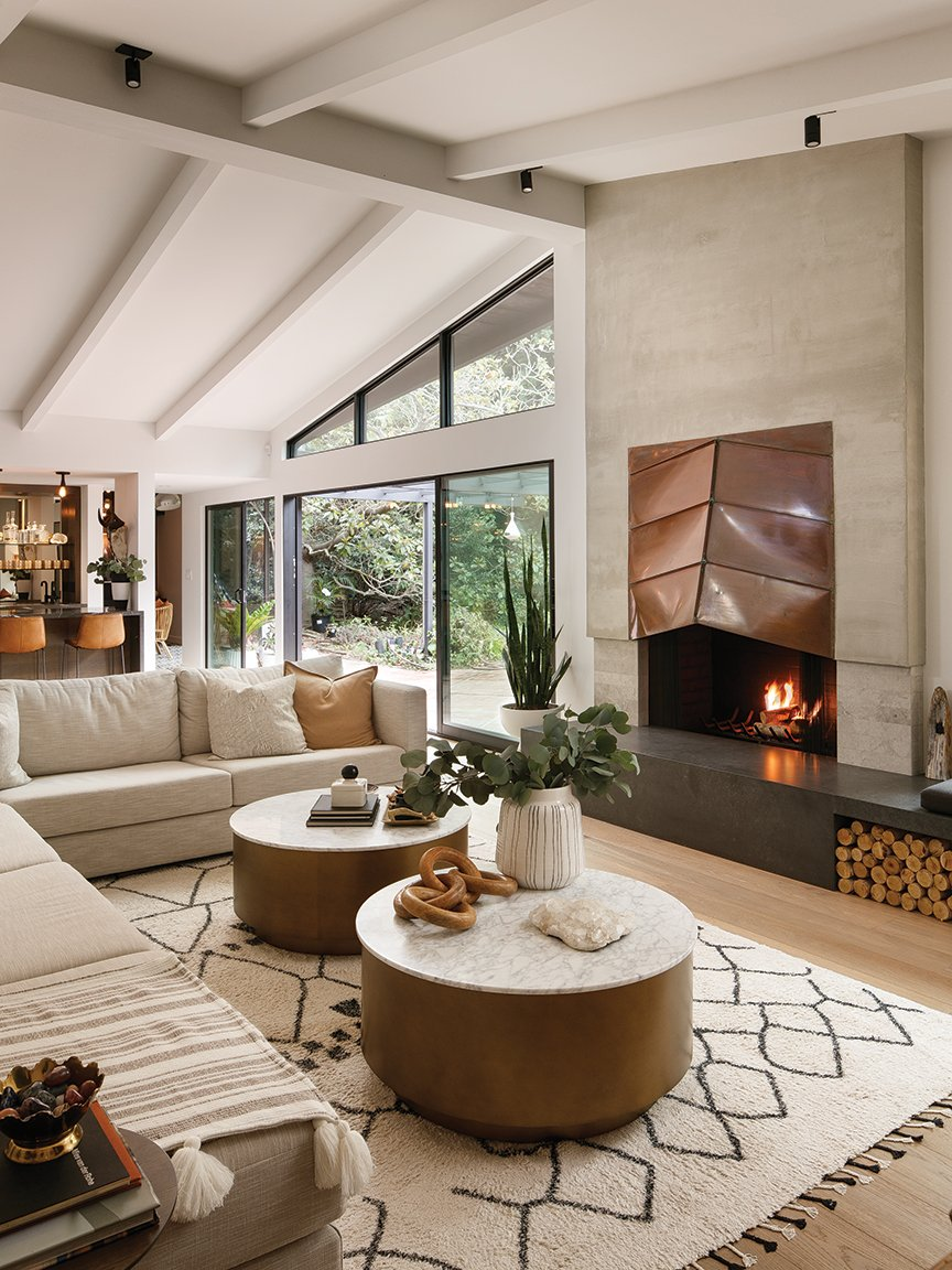 midcentury-modern dream home midcentury modern house architecture fireplace