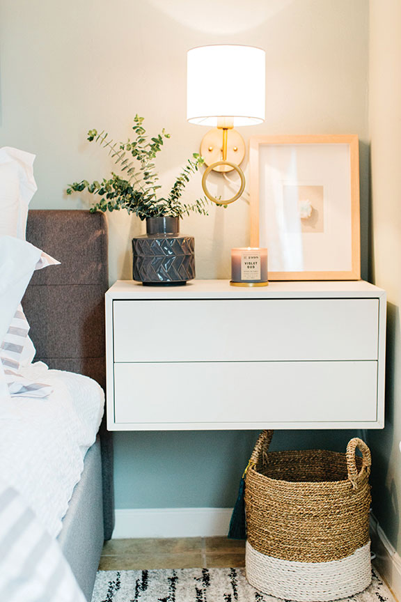 homeless home makeover nightstand